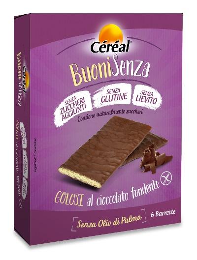 CEREAL BUONI SENZA GOLOSI CIOCCOLATO FONDENTE 6 X 17 G - Farmafamily.it