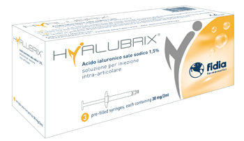 SIRINGA INTRA-ARTICOLARE HYALUBRIX ACIDO IALURONICO 1,5% 30 MG 2 ML 3 PEZZI - Farmapage.it
