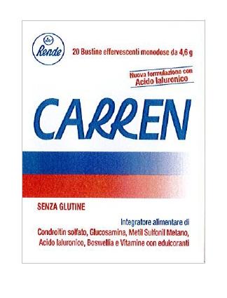 CARREN 20 BUSTINE EFFERVESCENTI MONODOSE DA 4,6 G L'UNA - Farmacia Basso