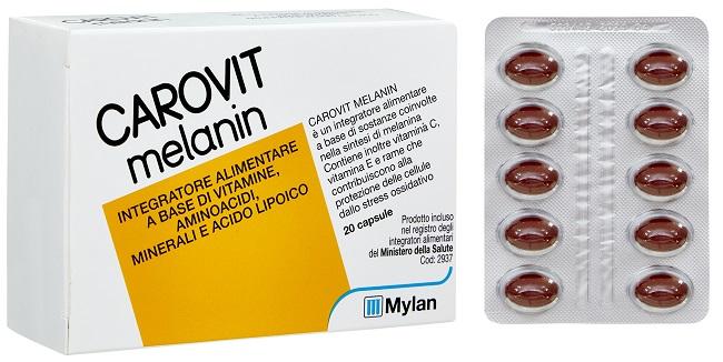 CAROVIT MELANIN SENZA BETACAROTENE 20 PERLE - farmaciadeglispeziali.it