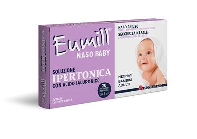 EUMILL NASO BABY SOLUZIONE IPERTONICA 20 FLACONCINI MONODOSE 5 ML - Farmajoy