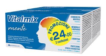 VITALMIX MENTE BIPACK 2 CONFEZIONI DA 12 FLACONCINI DA 12 ML - Farmacia Bartoli