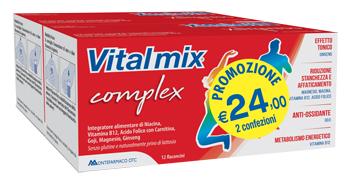VITALMIX COMPLEX BIPACK 2 CONFEZIONI DA 12 FLACONCINI DA 12 ML - Farmacia Bartoli