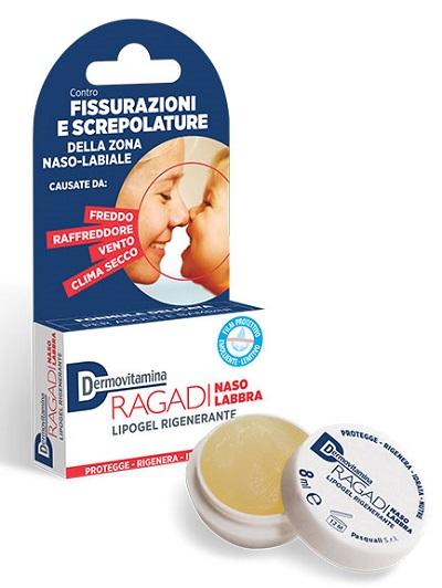 DERMOVITAMINA RAGADI NASO E LABBRA LIPOGEL RIPARATORE 8 ML - Farmaci.me