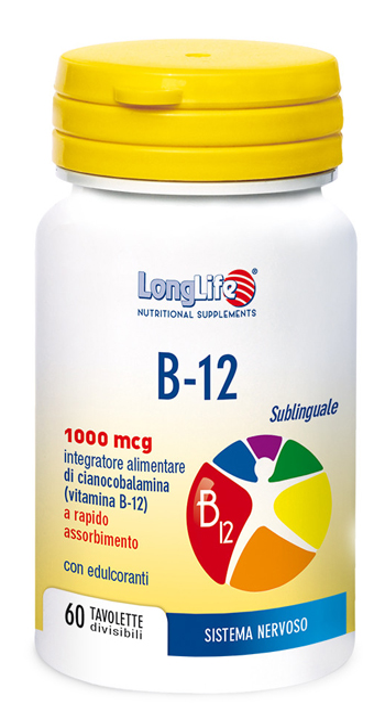 LONGLIFE B12 1000 MCG 60 COMPRESSE - Farmaciacarpediem.it