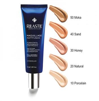 Rilastil Maquillage Mattfusion Fondotinta Mattificante e Riequilibrante 40 Sand 30 ml