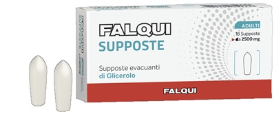 SUPPOSTE FALQUI 18 SUPPOSTE CON GLICERINA 2500MG ADULTI - FARMAEMPORIO