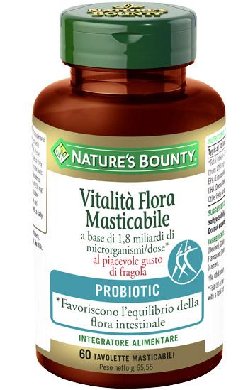 VITALITA FLORA 60 TAVOLETTE MASTICABILI 65,55 G - Farmaseller