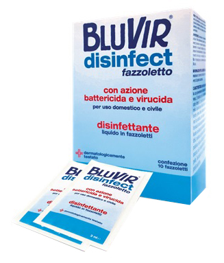 BLUVIR SALVIETTA VIRUCIDA BATTERICIDA 10 PEZZI 3 ML - Farmapage.it