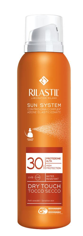 RILASTIL SUN SYSTEM DRY TOUCH SPF 30 200 ML - Farmacia Massaro