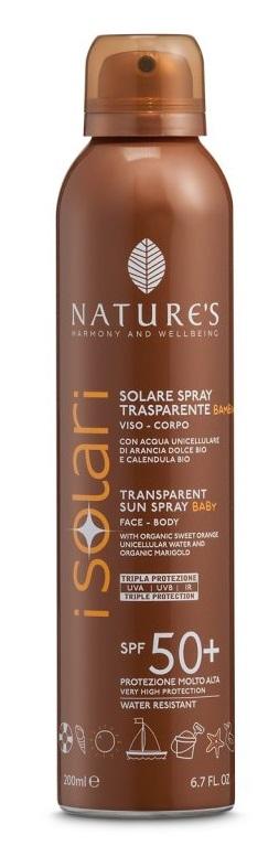 NATURES I SOLARI SPRAY TRASPARENTE BAMBINI SPF50+ 200 ML - DrStebe
