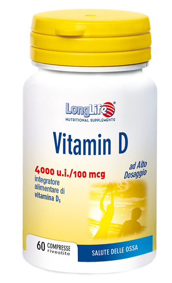 LONGLIFE VITAMIN D 4000UI 60 COMPRESSE - Spacefarma.it