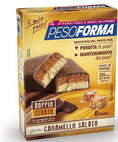 PESOFORMA BARRETTA AL CARAMELLO SALATO 12 PEZZI DA 31 G - Parafarmacia Tranchina