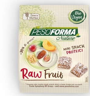 PESOFORMA NATURE RAW FRUITS BITES BIO MINI SNACK PROTEICI 32 G - Carafarmacia.it
