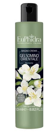 EUPHIDRA BAGNOCREMA NUTRIENTE GELSOMINO IN FLACONE CON ETICHETTA - Farmajoy