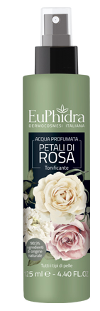 EUPHIDRA ACQUA PROFUMATA ROSA IN FLACONE CON ETICHETTA POMPA SPRAY - Farmaciaempatica.it
