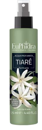 EUPHIDRA ACQUA PROFUMATA TIARE' IN FLACONE CON ETICHETTA POMPA SPRAY - FARMAEMPORIO