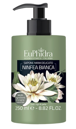 EUPHIDRA SAPONE LIQUIDO MANI NINFEA IN FLACONE CON ETICHETTA DISPENSER - Farmajoy