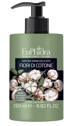 EUPHIDRA SAPONE LIQUIDO MANI COTONE IN FLACONE CON ETICHETTA DISPENSER - Farmajoy