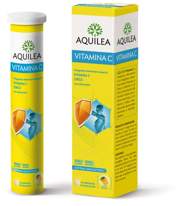 AQUILEA VITAMINA C 14 COMPRESSE EFFERVESCENTI - farmaventura.it