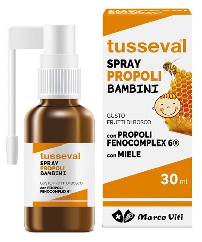 TUSSEVAL GOLA PROPOLI SPRAY PER BAMBINI 30 ML - Farmapage.it