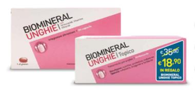 BIOMINERAL UNGHIE 30 CAPSULE + TOPICO EMULSIONE 20 ML IN REGALO - farmasorriso.com
