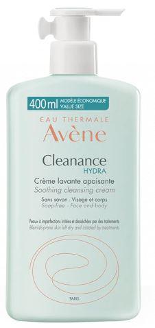 Avène Cleanance Hydra Crema Detergente Lenitiva Viso 400 ml