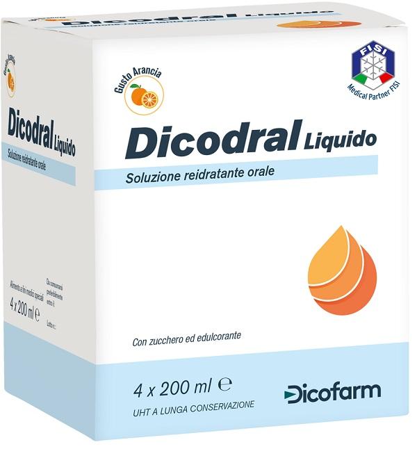 DICODRAL LIQUIDO SOLUZIONE REIDRATANTE ORALE 4 X 200 ML - Farmafamily.it