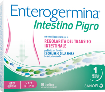 ENTEROGERMINA INTESTINO PIGRO 10 BUSTINE - farmaciadeglispeziali.it