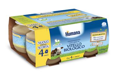 HUMANA OMOGENEIZZATO VITELLO BIO 4 X 80 G - Carafarmacia.it