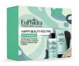 EUPHIDRA HAPPY BEAUTY ROUTINE DETOSSIFICANTE 1 MASCHERA PURIFICANTE CON PENNELLO + 1 GEL PURIFICANTE 100 ML - Parafarmacia Tranchina
