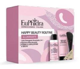 EUPHIDRA HAPPY BEAUTY ROUTINE ILLUMINATE 1 MASCHERA ILLUMINANTE CON PENNELLO + 1 GEL PURIFICANTE 100 ML