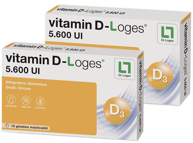 VITAMIN D-LOGES 30 GELATINE MASTICABILI GUSTO LIMONE 42 G - Farmacia 33
