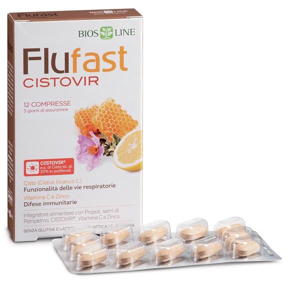 FLU FAST APIX CON CISTOVIR 12 COMPRESSE - Farmacia Castel del Monte