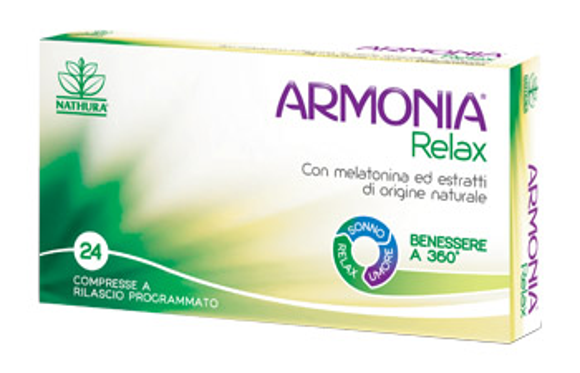 ARMONIA RELAX 1 MG A BASE DI MELATONINA 24 COMPRESSE - Farmawing