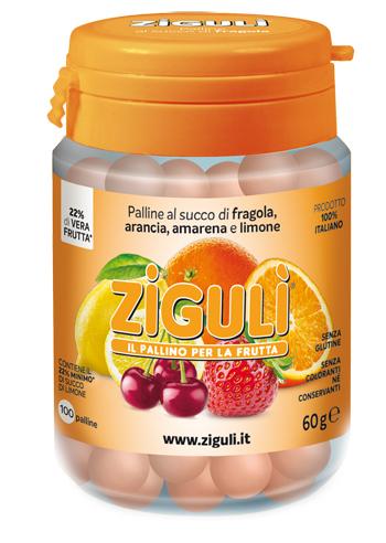 ZIGULI MIX AMARENA, ARANCIA, FRAGOLA, LIMONE 100 PALLINE 60 G - Farmacia 33