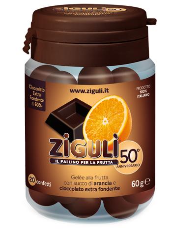 ZIGULI GELEE GUSTO ARANCIA E CIOCCOLATO FONDENTE 60% 20 CONFETTI 60 G - La farmacia digitale