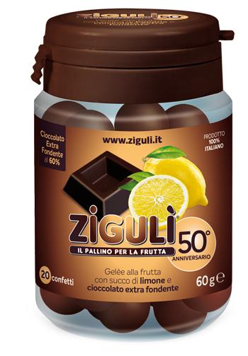 ZIGULI GELEE GUSTO LIMONE E CIOCCOLATO FONDENTE 60% 20 CONFETTI 60 G - La farmacia digitale