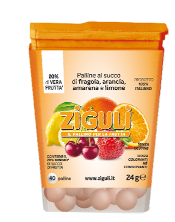 ZIGULI MIX AMARENA, ARANCIA, FRAGOLA, LIMONE 40 PALLINE 24 G - Farmapage.it