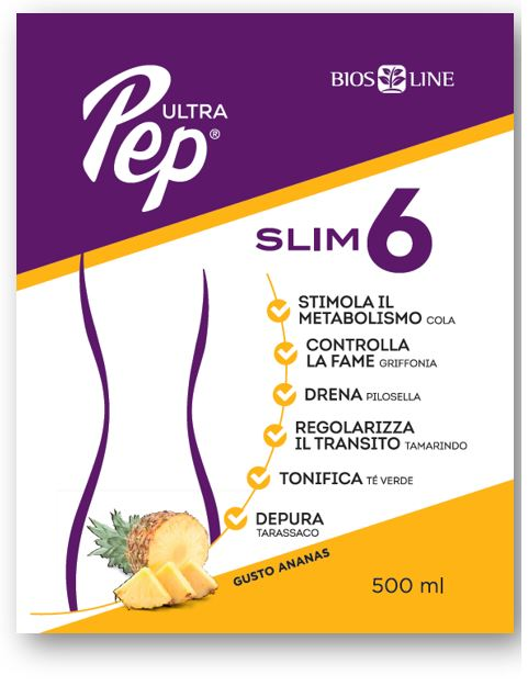 ULTRA PEP SLIM 6 ANANAS 500 ML CON EDULCORANTE - Farmafirst.it