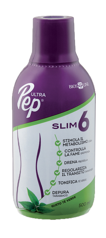 ULTRA PEP SLIM 6 TE' VERDE 500 ML CON EDULCORANTE - Farmafirst.it
