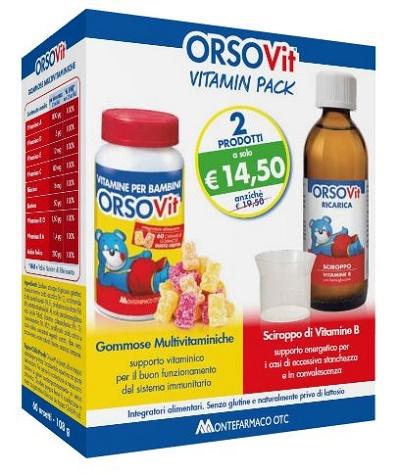 ORSOVIT VITAMIN PACK 60 CARAMELLE GOMMOSE + SCIROPPO 150 ML - Farmacianuova.eu