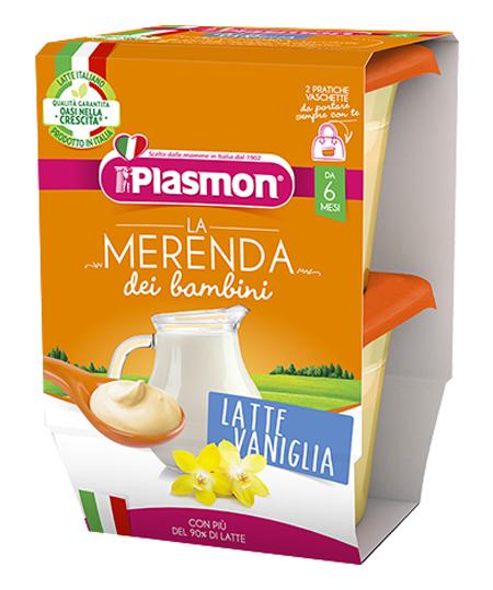 PLASMON LA MERENDA DEI BAMBINI MERENDE LATTE VANIGLIA ASETTICO 2 X 120 G - Parafarmacia Tranchina