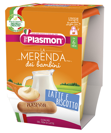 PLASMON LATTE BISCOTTO AS 2 X 120 G - Farmia.it