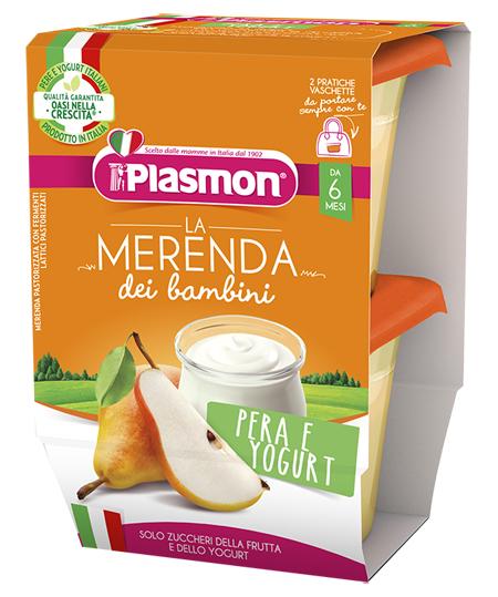 PLASMON PERA YOGURT AS 2 X 120 G - Farmafamily.it