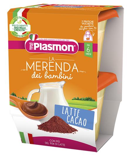 PLASMON LA MERENDA DEI BAMBINI MERENDE LATTE CACAO ASETTICO 2 X 120 G - Farmacia Centrale Dr. Monteleone Adriano