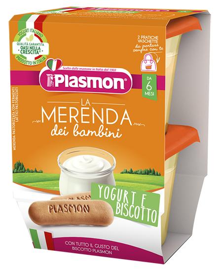 PLASMON LA MERENDA DEI BAMBINI SAPORE DI NATURA YOGURT BISCOTTO ASETTICO 2 X 120 G - farmaciafalquigolfoparadiso.it