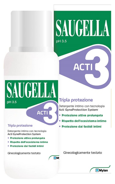 SAUGELLA ACTI3 DETERGENTE INTIMO 250 ML - Farmabros.it