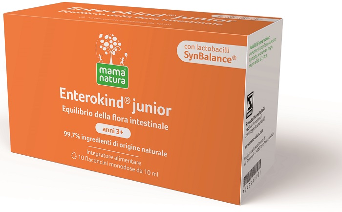 Mama Natura Enterokind Junior 10 Flaconcini 10ml - SCADENZA 06/2021 - Arcafarma.it