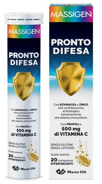 MASSIGEN PRONTO DIFESA 20 COMPRESSE EFFERVESCENTI - Speedyfarma.it
